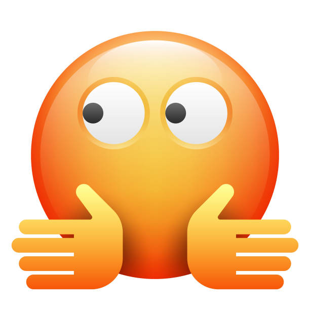 realistic emoji - confused emoji stock illustrations, clip art, cartoons, & icons