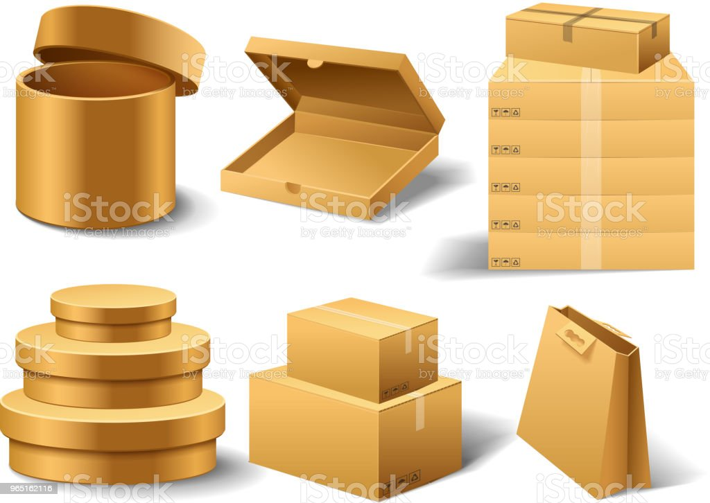 Realistic empty cardboard box Opened. Brown delivery. Carton package with fragile sign on transparent white background. Set of isolated mockup for web. Container for shipping, transportation and mail realistic empty cardboard box opened brown delivery carton package with fragile sign on transparent white background set of isolated mockup for web container for shipping transportation and mail - stockowe grafiki wektorowe i więcej obrazów bez ludzi royalty-free