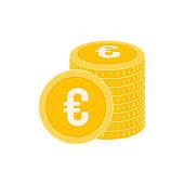 realistic dollar coin vector icon design template gold coin stack