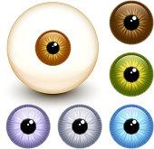 Realistic eye Eyeball Collection
