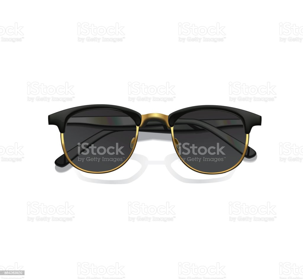 Realistic fashion vector sunglasses with shadow isolated on white background. royalty-free realistic fashion vector sunglasses with shadow isolated on white background stock vector art & more images of adult
