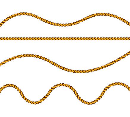 Realistic fiber ropes.
