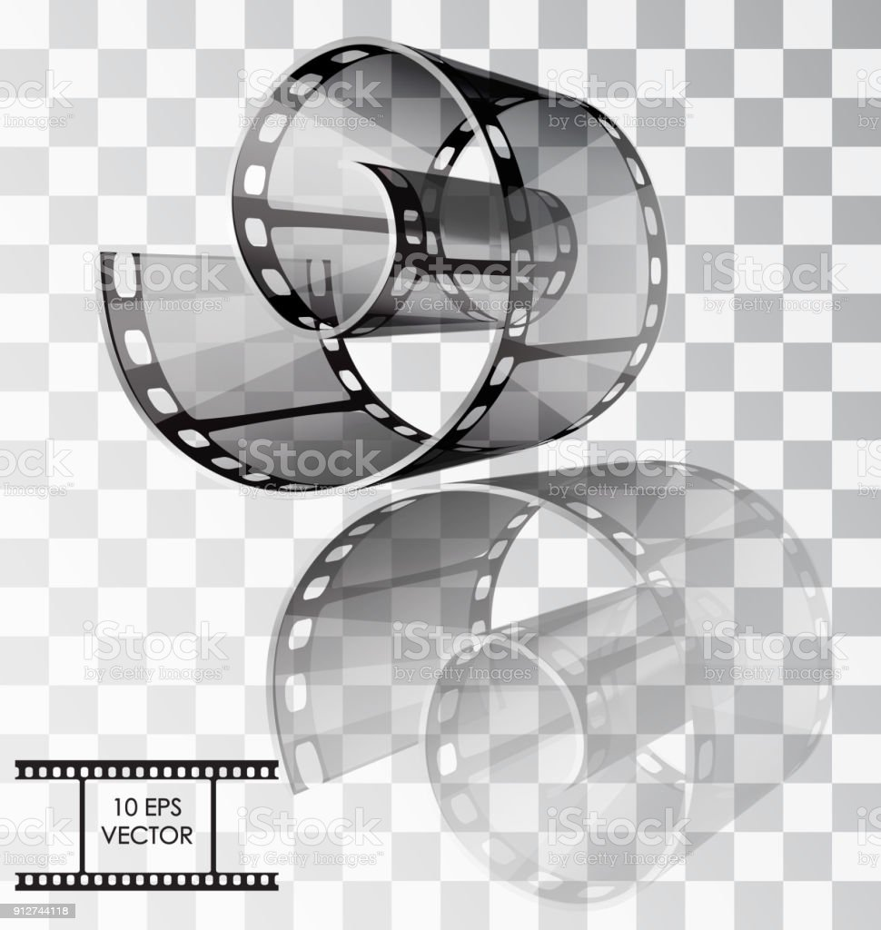 Realistic Film Vector Illustration Isolated Object On A Transparent