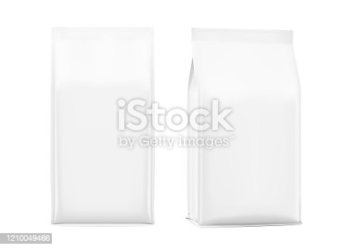 Realistic food bags isolated on white background.