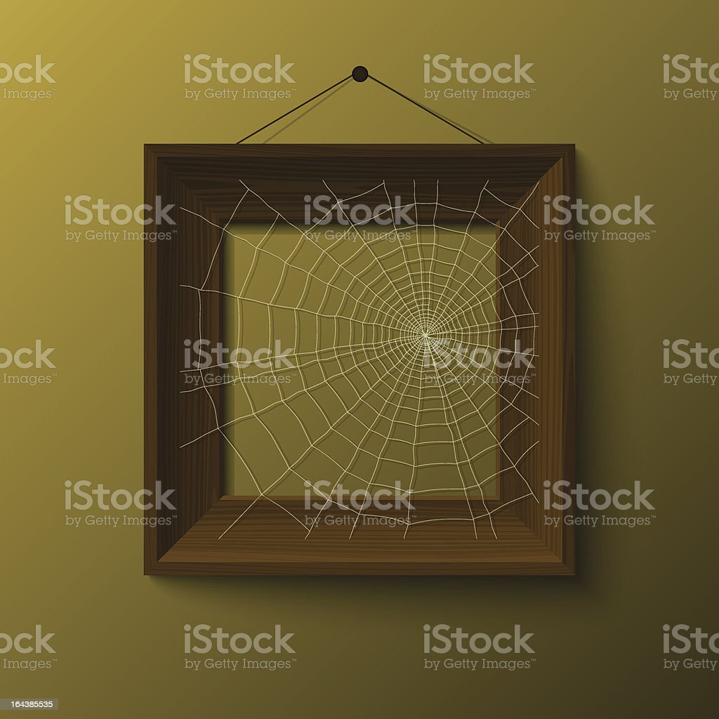 realistic frame with spiderweb royalty-free stock vector art