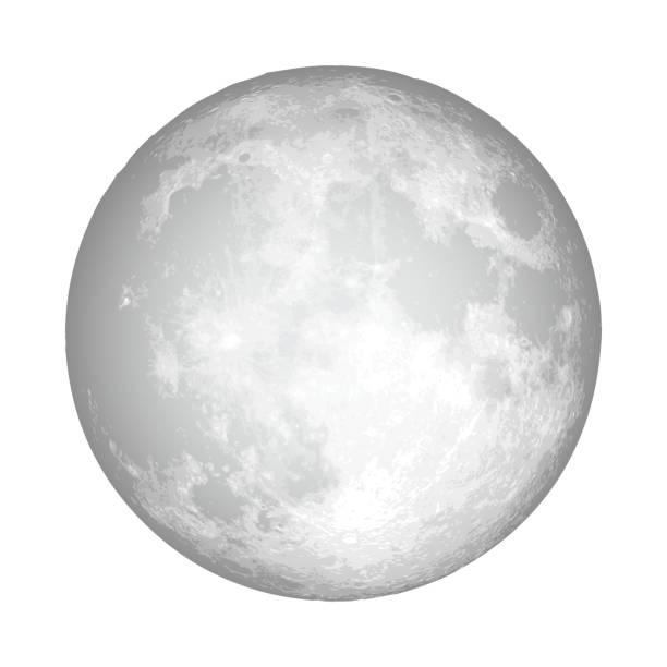 逼真的滿月占星術或天文學行星設計。向量。 - 月亮 幅插畫檔、美工圖案、卡通及圖標