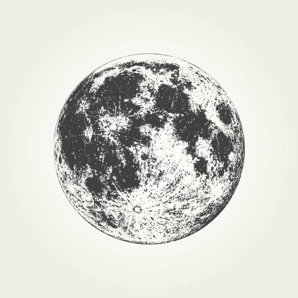 realistic full moon - moon stock illustrations, clip art, cartoons, & icons