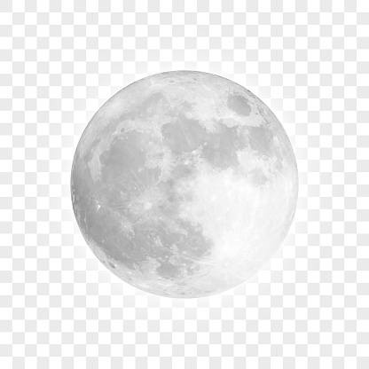 Vector full moon. Carefully layered and grouped for easy editing.