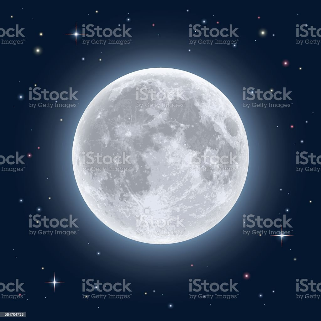 Realistic full moon royalty-free realistic full moon stock vector art & more images of astrology