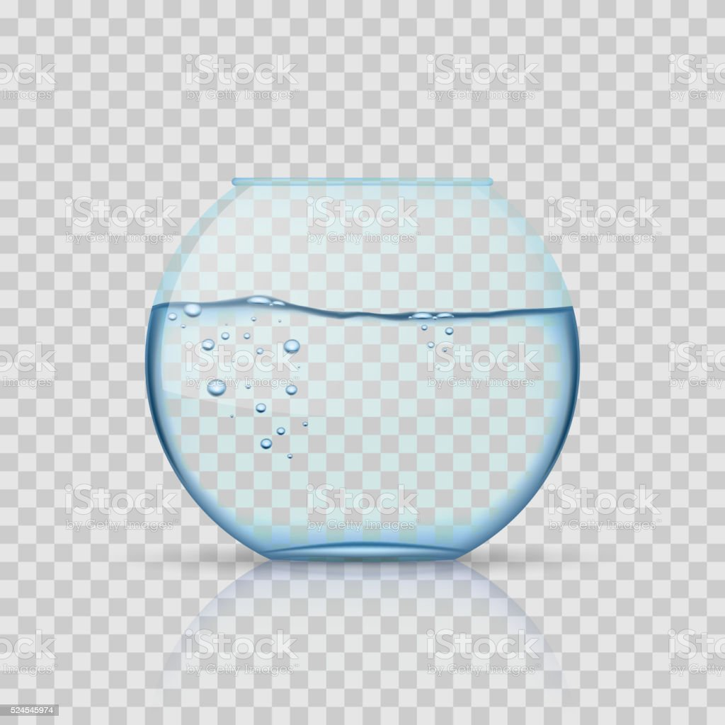 リアルなガラス金魚鉢水族館で水の透明背景 のイラスト素材 524545974