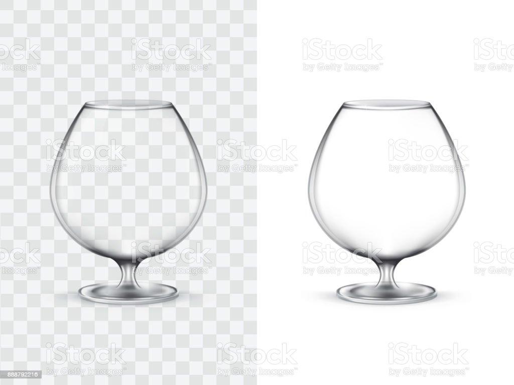 Realistic glasses for alcohol vector art illustration