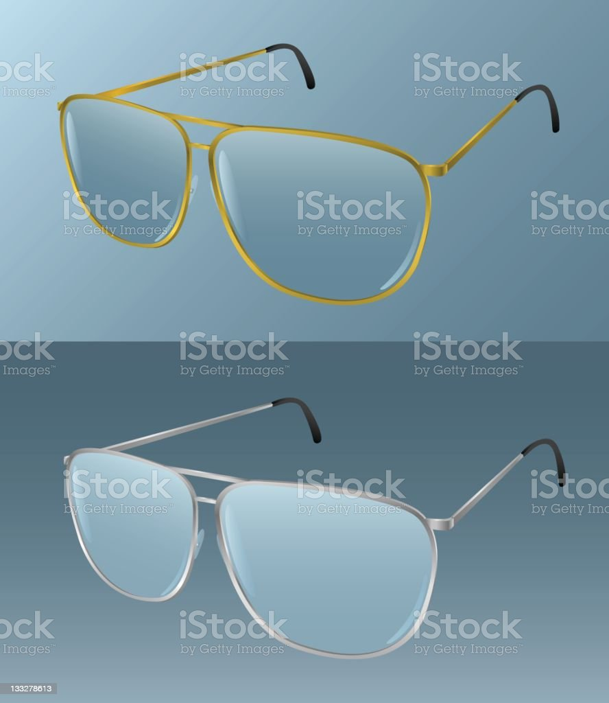 Realistic Glasses [vector] royalty-free stock vector art