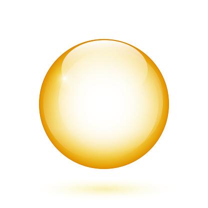 Realistic glossy ball
