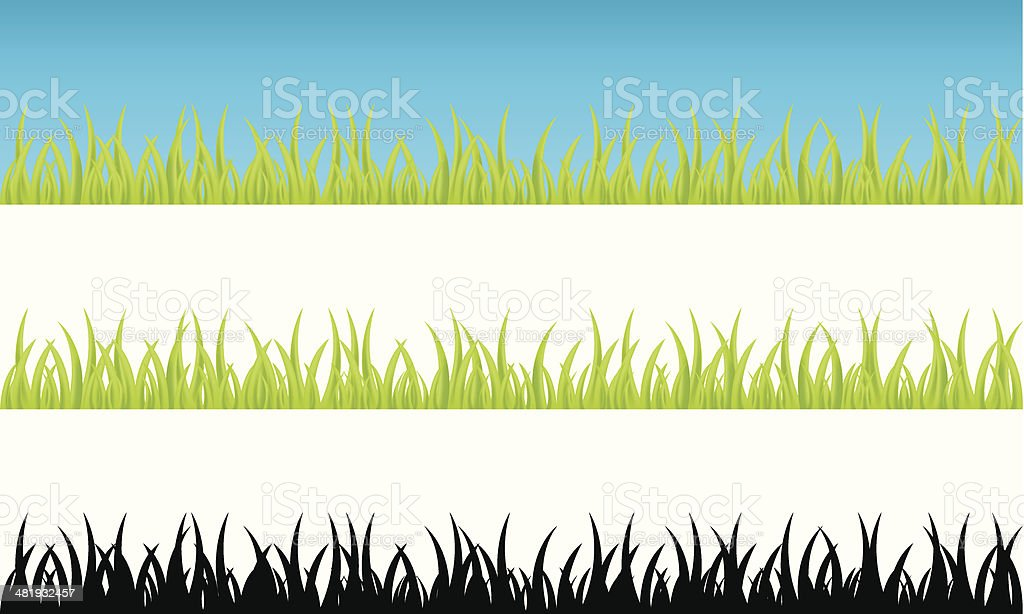 Realistic grass continuum vector art illustration