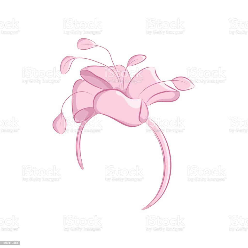 Realistic Hair Band With A Lush Flower Or Bow Womens Fashion ...