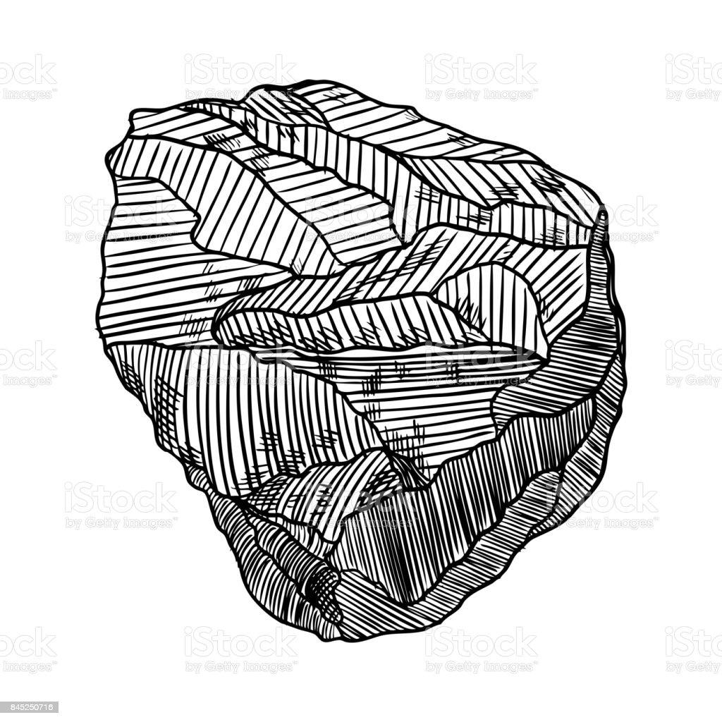 Realista dibujados a mano dibujo piedra y roca piedra de - Dibujos de piedras ...