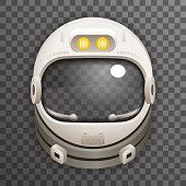 Realistic Helmet 3d Cosmonaut Astronaut Spaceman Tantamareska Poster Transperent Glass