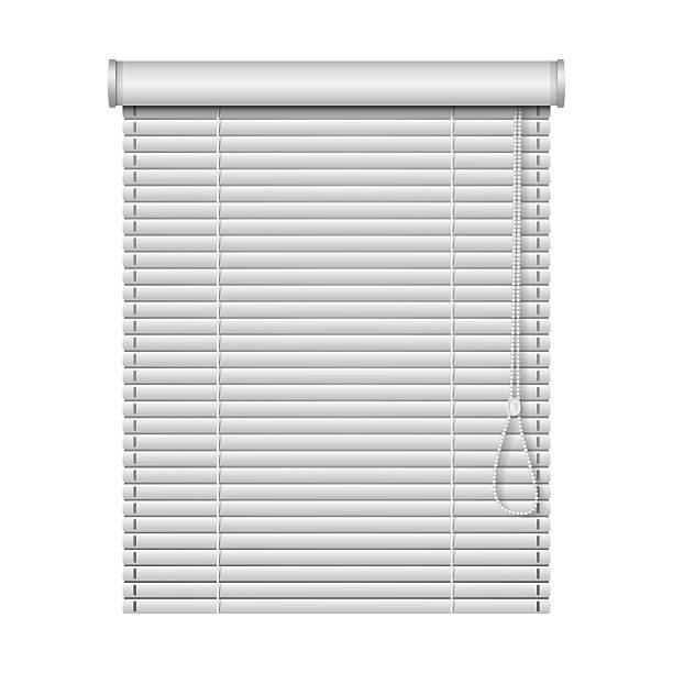 ilustrações de stock, clip art, desenhos animados e ícones de realista casa com persianas isolado em fundo branco - com portada
