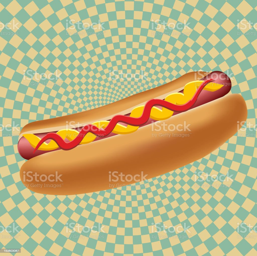 Realistic hot dog vector illustration royalty-free stock vector art