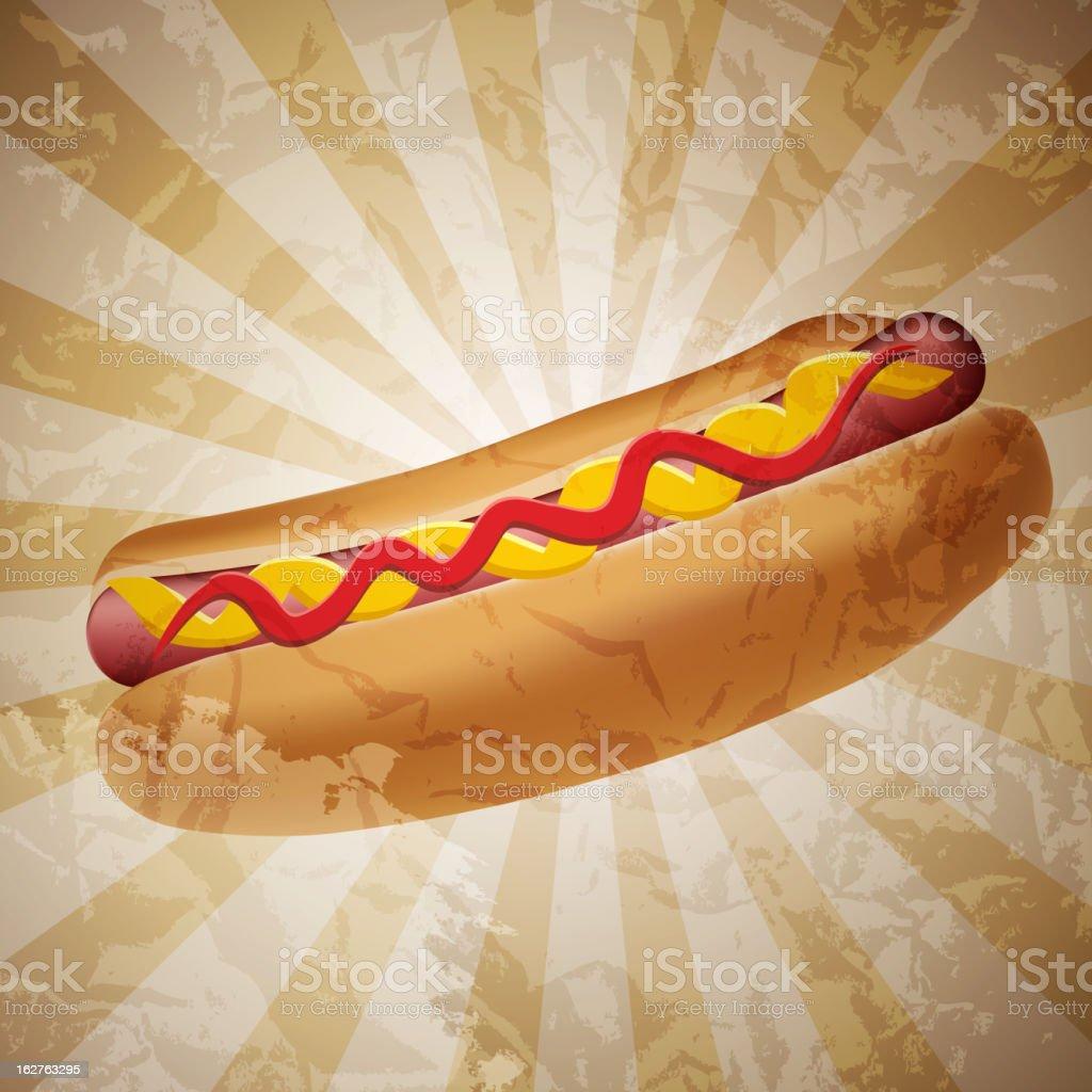 Realistic hot dog vector illustration vector art illustration