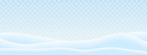 illustrations, cliparts, dessins animés et icônes de illustration réaliste des collines dans le paysage d'hiver avec la neige et le ciel bleu-blanc transparent. convient comme une carte de voeux pour noël ou nouvel an-vecteur - sky
