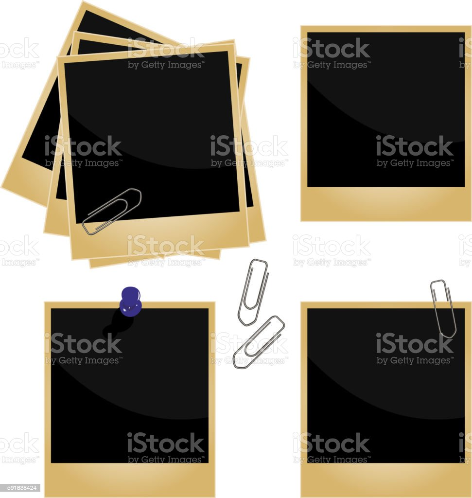 Realistic illustration of set a photo frame - vector vector art illustration