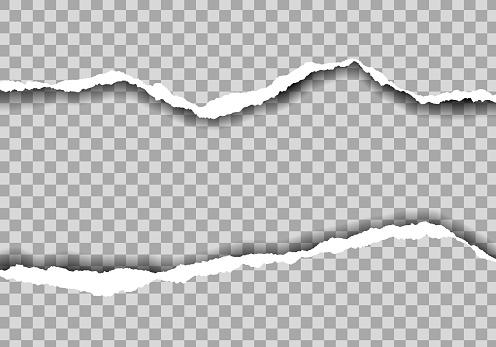 Metin Alanı Ile Yırtık Kağıt Gerçekçi Illustration Şeffaf Arka Plan Üzerinde Izolevektör Stok Vektör Sanatı & Arka planlar'nin Daha Fazla Görseli