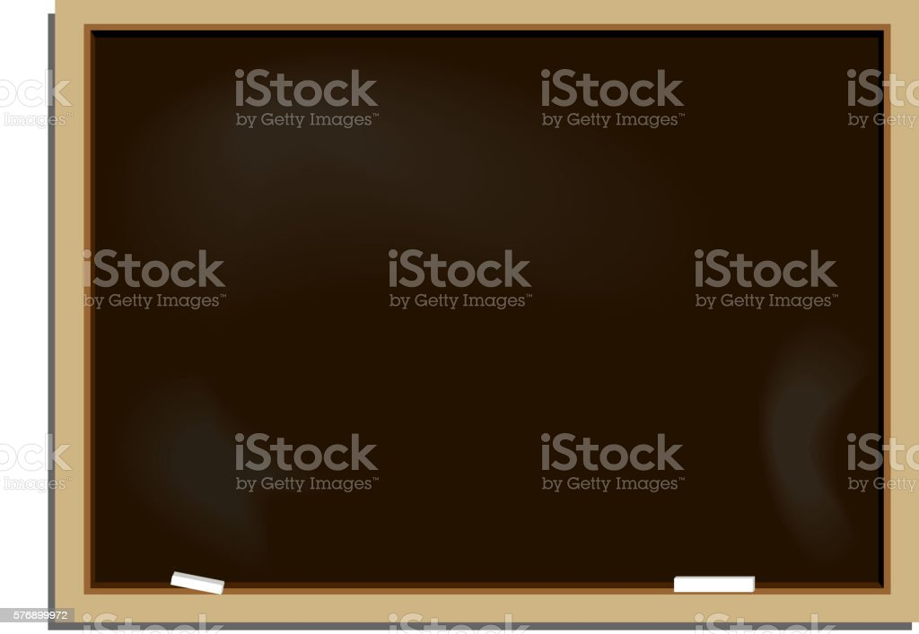 Realistic illustration school blackboard - Illustration vectorielle