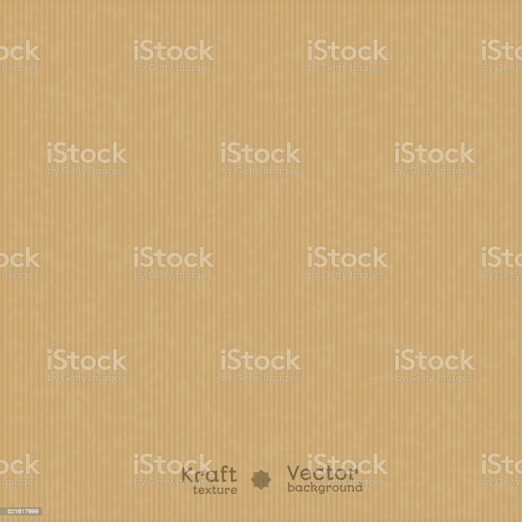 Realistic kraft texture vector art illustration