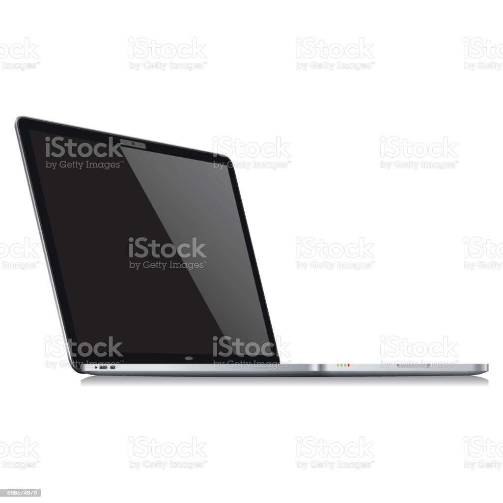 Realistic laptop template - Vector vector art illustration