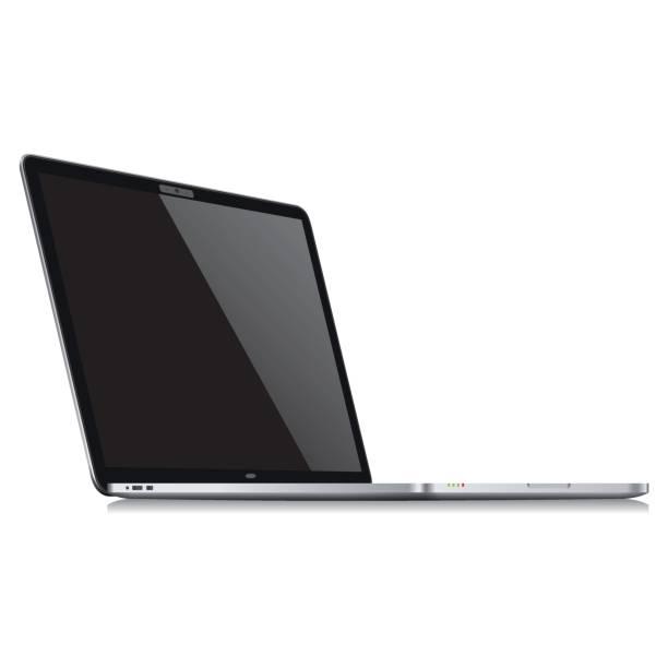 現実的なラップトップ テンプレート - ベクトル - ワイヤレス技術点のイラスト素材/クリップアート素材/マンガ素材/アイコン素材