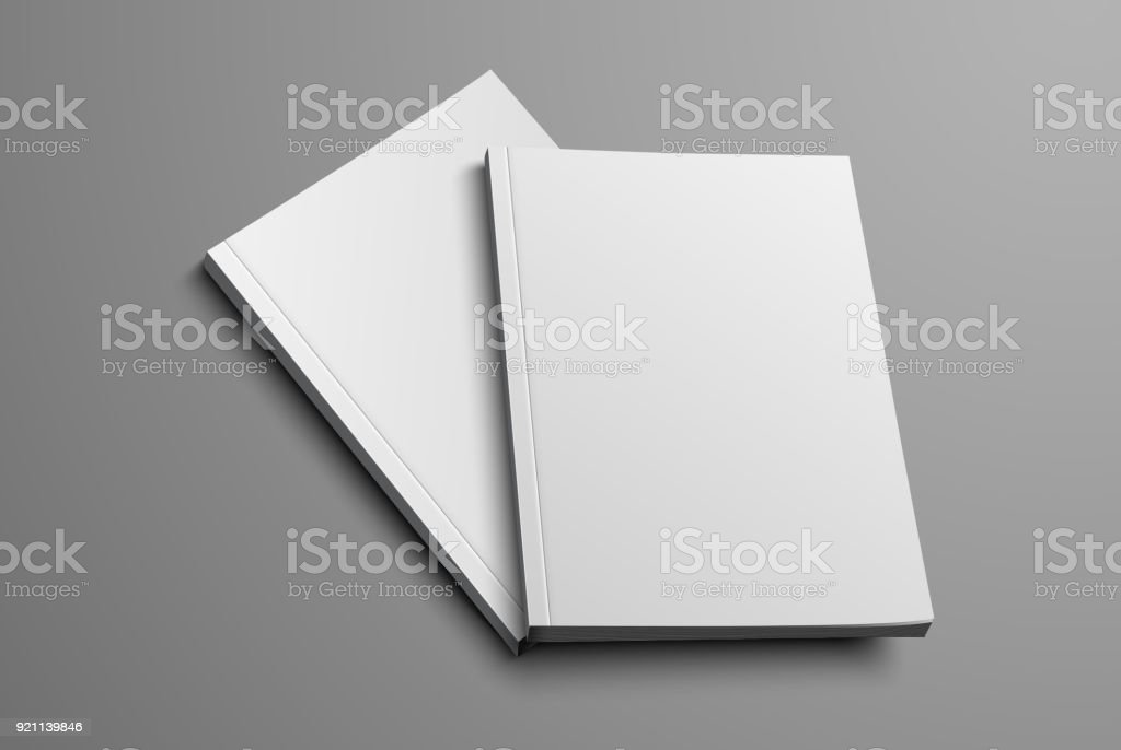 realistic layout of the brochure for the presentation of the cover. vector art illustration