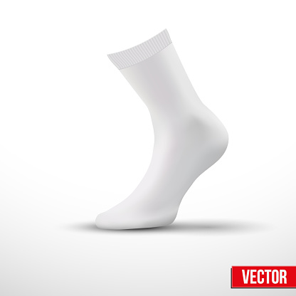 Realistic layout of white socks. A simple example. vector