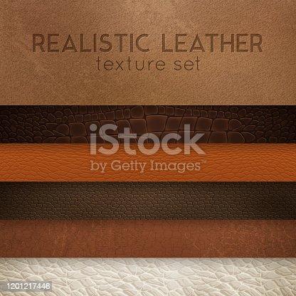 istock realistic leather texture horizontal set 1201217446
