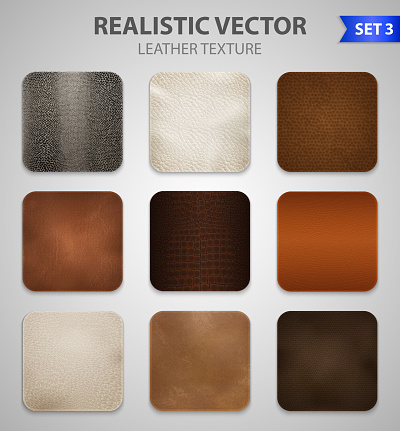 realistic leather texture set