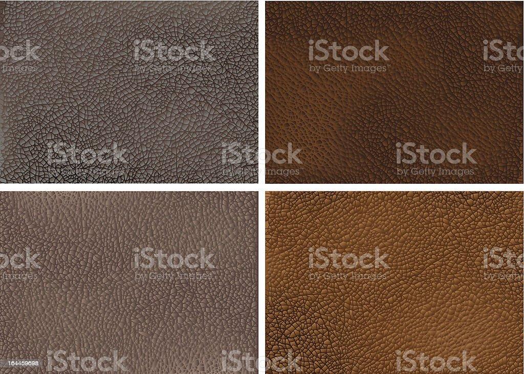 Realista texturas de cuero - ilustración de arte vectorial