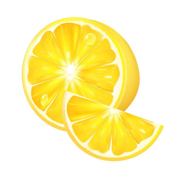 Realistische Zitrone auf einem weißen Hintergrund. 3D isoliert Vektor-illustration – Vektorgrafik