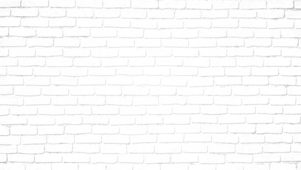 Realistic light white brick wall background. Distressed overlay texture of old brickwork, grunge abstract halftone pattern. Texture for template, layout, poster, fabric and different print production. Realistic light white brick wall background. Distressed overlay texture of old brickwork, grunge abstract halftone pattern. Texture for template, layout, poster, fabric and different print production white color stock illustrations