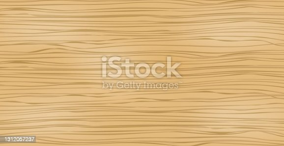 istock Realistic light wood pattern texture, background - Vector 1312057237