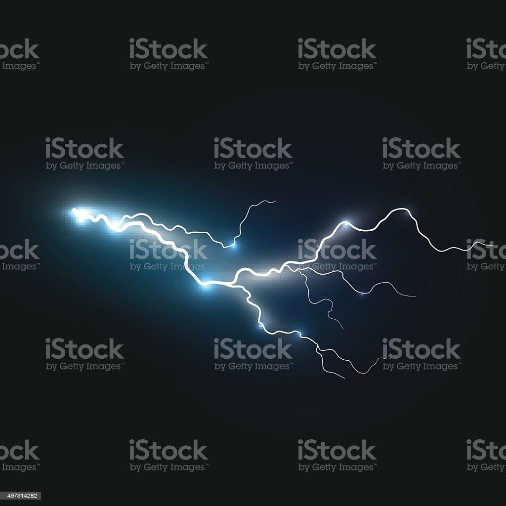 Realistic Lightning Symbol Stock Vector Art & More Images of