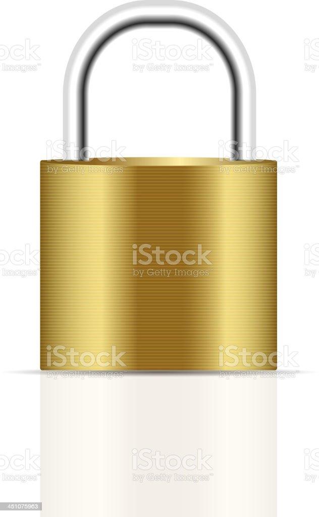 realistic lock vector illustration royalty-free stock vector art
