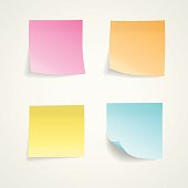 Realistic looking colorful sticky notes