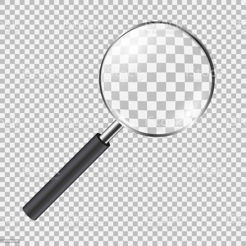 Realistic Magnifying Glass Stock Vector Art & More Images of ...