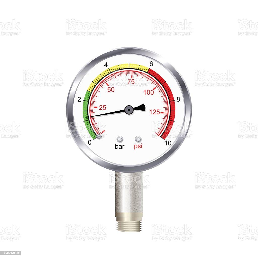 realistic manometer isolated on white background. Vector illustr vector art illustration