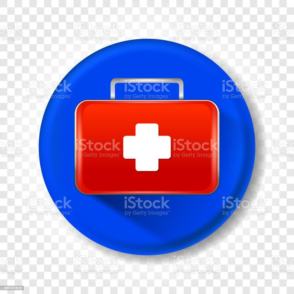 A realistic medical first-aid kit. Round Vector illustration. royalty-free a realistic medical firstaid kit round vector illustration stock vector art & more images of care