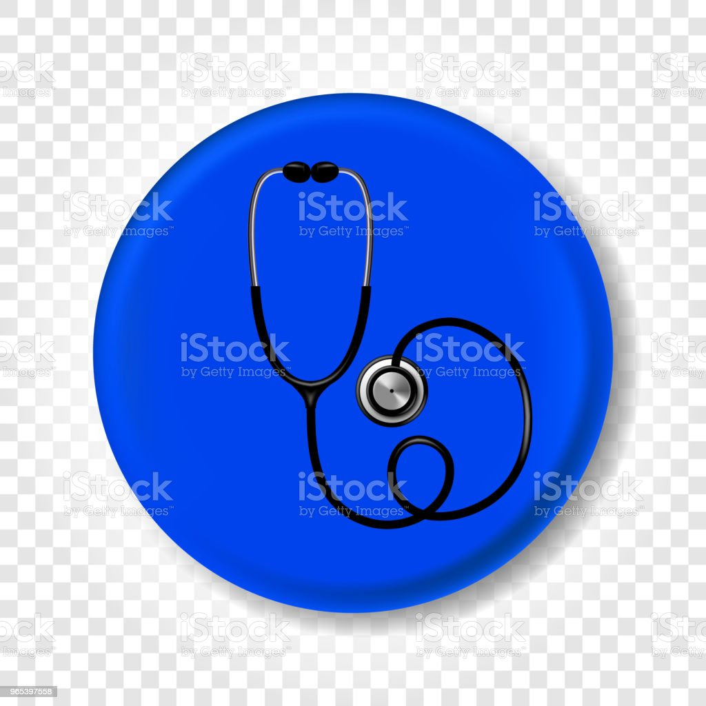A realistic medical stethoscope. Round Vector illustration royalty-free a realistic medical stethoscope round vector illustration stock vector art & more images of care