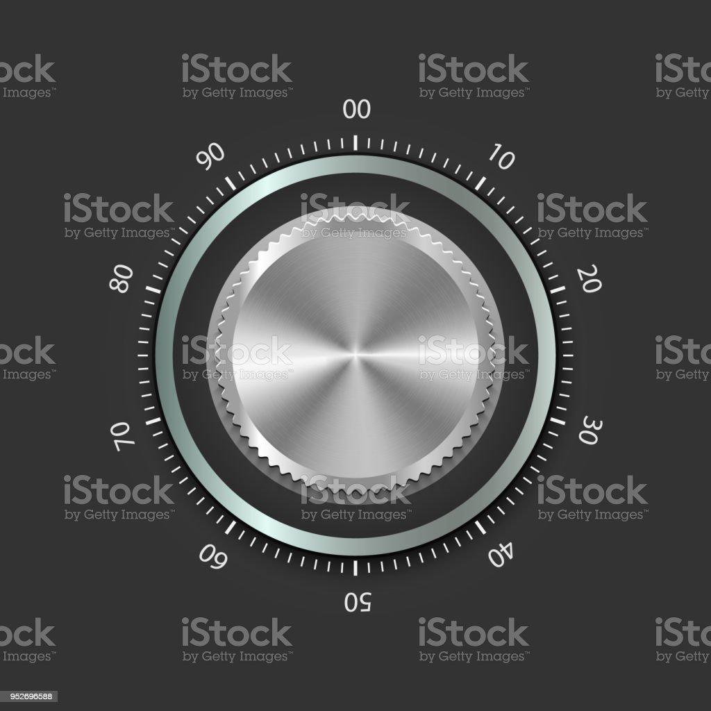 realistic metal safe lock - illustration