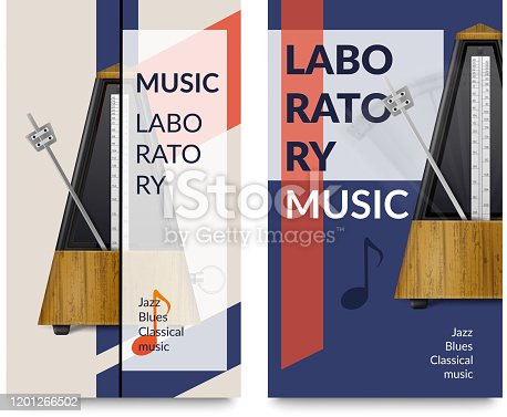 istock realistic metronome music notes banners 1201266502