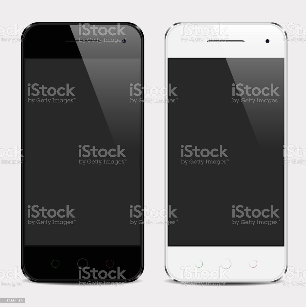 Realistic mobile phone template vector art illustration