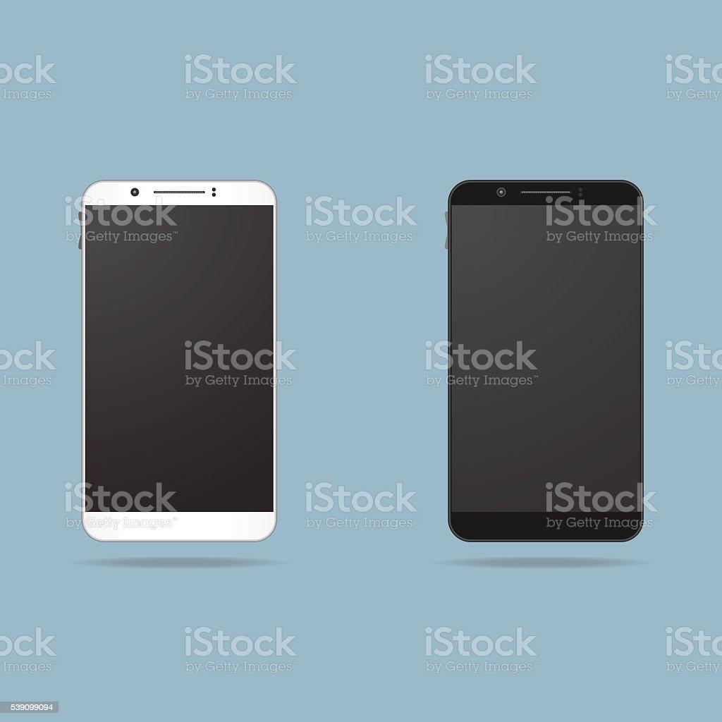 Realistische Handy – Vektorgrafik